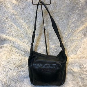 Fossil Black Pebbled Leather Shoulder Bag